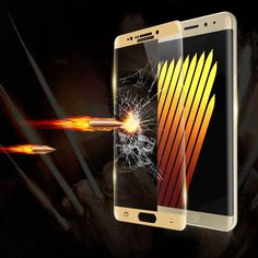 Note 7 Full Coverage Screen Protector 3D 9H Premium Ultra Clear Tempered Glass Film For Samsung Galaxy Note 7 With Retail Box