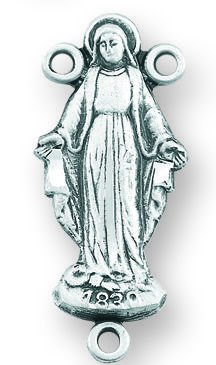 Sterling Silver Our Lady of Grace Rosary Center