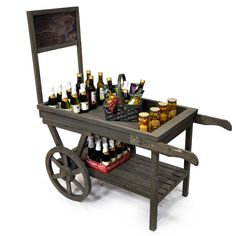 Wooden Retail Display Cart with Chalkboard - This would be great for our Market Days