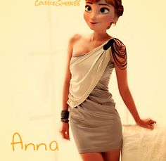 Anna Arendelle. Modern AU. She looks awesome! @Anna of Arendelle and @Anna Of Arendelle! XD