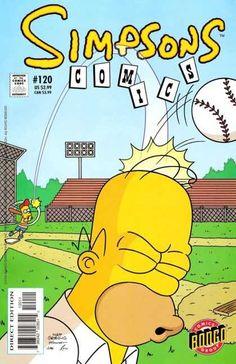 Simpsons Comics 120 - Basball - Homer - Bart - Baaseball Bat - Ball