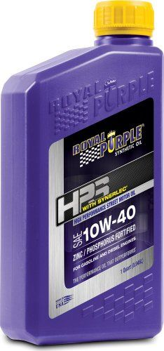 introducing royal purple 31140 hps 10w40 high performance street synthetic motor oil with synerlec 1 qt