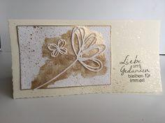 Dankeskarte (Trauer) f. Gertrud