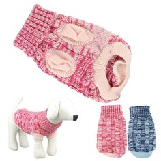 HP95 Hot! Fashion Knitted Sweater Twist Design Pet Puppy Knit Clothes -- Check this awesome image  : Dog sweaters