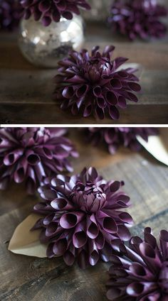Make a Paper Dahlia for Fall | 35 DIY Fall Decorating Ideas for the Home | Fall Craft Ideas for Adults