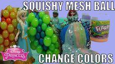 Cut Open Squishy Mesh SLIME Balls Change SLIME COLOR Load GLITTER SLIME by mytubepm
