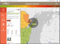 "When is the best time for Door County fall leaf peeping? No one loves the vague but honest answer, ""it changes every year."" However, with the Travel Wisconsin Fall Color Report you can get the most topical updates and do your best to align your fall road trip with Mother Nature's golden tint. This interactive map helps you discover current autumn color status, as well as predict when fall splendor will be at its peak, a weather forecast to help you plan what to pack, and a list of selfie station"