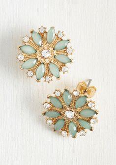 Sparkles Fleur You Earrings, @ModCloth