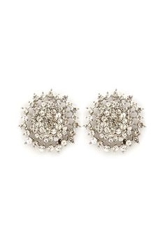 Crystal Cluster Earrings on Emma Stine Limited
