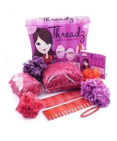 Cute gift idea for crafty tween girls! Threadz Make a Scarf Kit by @PlaSmart $16.99