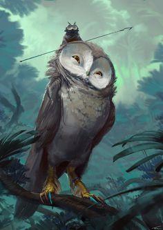 The Hoch Owls, Thomas Chamberlain - Keen on ArtStation at https://www.artstation.com/artwork/3nYoB