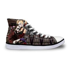 Hot Sales Women High-Top Canvas Shoes Fashion,Husky France Pug Dog Cat Pattern Lace-up Flat Shoes Woman Girls Casual Shoe Female Top Shoes, Me Too Shoes, Flat Shoes, Toms Shoes For Men, Girls Shoes, Sneakers Fashion, Fashion Shoes, Rock Boots, Painted Canvas Shoes