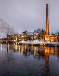 Winter night in Tampere Finland Cities In Finland, Urban Life, Winter Night, Baltic Sea, Free Travel, Norway, Paris Skyline, Careless Whisper, Lighthouses