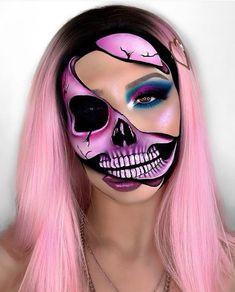 Creepy Halloween Makeup, Amazing Halloween Makeup, Halloween Makeup Looks, Leopard Halloween Makeup, Helloween Make Up, Horror Makeup, Creative Makeup Looks, Special Effects Makeup, Cute Makeup