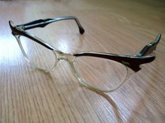 Vintage 1950s Cat Eye Glasses Brown 2013496 by bycinbyhand on Etsy, $65.00