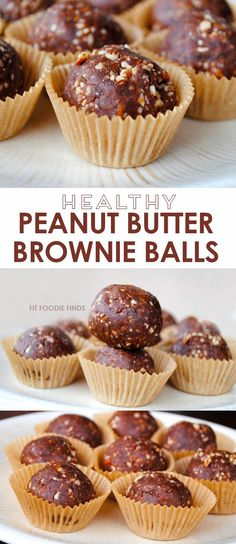 Peanut Butter Brownie Balls - http://FitFoodieFinds.com  | Part of the #SummerSWEATSeries Week 3 Meal Plan - love this healthy snack!