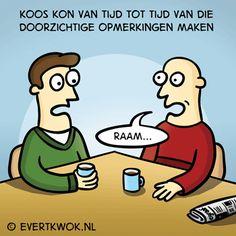 328 Opmerkingen - Evert Kwok Cartoons - droge humor, woordgrappen & bananen