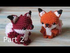 Amigurumi Fox Keyring - How to Crochet (Part 2) - YouTube