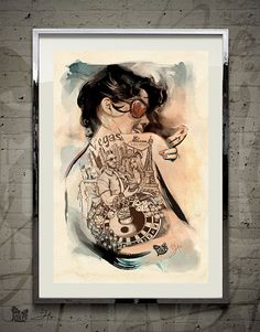 Vegas — Original Art by David Xin by JokerWorkshop on Etsy
