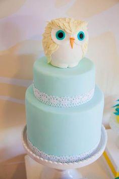 #Owl Baby shower #Cake