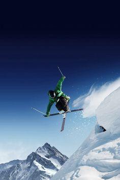 Dangerous Skiing Jump