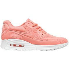 innovative design 0ffb6 65964 Nike Women Air Max 90 Ultra Sneakers ( 190) ❤ liked on Polyvore featuring  shoes, sneakers, salmon pink, nike, rubber sole shoes, nike shoes, pink  shoes and ...