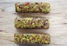 Clean Eating No Bake Cranberry Pistachio Bars - only 3 ingredients and SUPER easy!