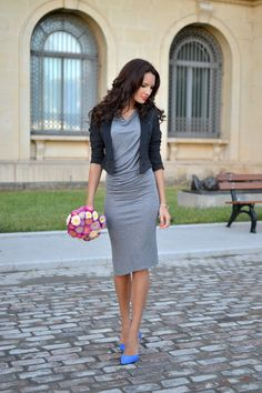 Dress: H&M (new collection) Blazer: H&M (ss12) Shoes: Zara (ss13) Watch: Gucci