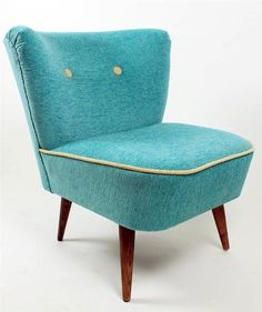 (1 from 2 )Retro Mid Century Turquoise Club Cocktail Chair Made In Hungary in Antiques, Antique Furniture, Chairs | eBay