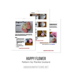 Happy Flower amigurumi pattern - Amigurumipatterns.net