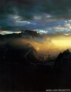 The Potala Palace in Tibet - previously home to the Dalai Lamas.  #China #Culture