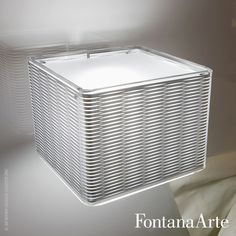 The screens top and bottom are in sandblasted glass, FontanaArte Lounge Wall Lamp. #FontanaArte #walllamp #CalviMerliniMoya Available at allmodernoutlet.com  http://www.allmodernoutlet.com/fontanaarte-lounge-wall-lamp/
