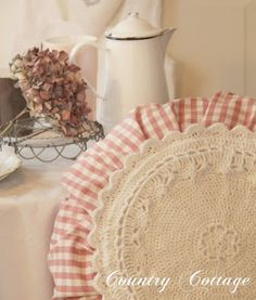 My Country Cottage Garden: Another sweet round Granny pillow!