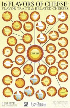 Cheese Wheel Chart for Cheese Lovers [Infographic]     «TwistedSifter