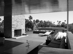 richard neutra kaufmann house, palm springs by ellynkocher, Richard Neutra, Chinese Architecture, Architecture Office, Architecture Design, Futuristic Architecture, Palm Springs, Desert House, Casa Kaufmann, Zaha Hadid Architects