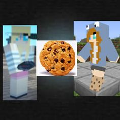 my minecraft skin is the one on the right (brown hair, cookie monster girl, the one thats walking) and my BFFS skin is the other