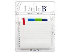 Little B Paper Adhesive Notes NOTEBOOK by 1papercut on Etsy