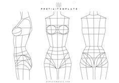 Underwear Woman body figure fashion template (D-I-Y your own Fashion Sketchbook) http://www.4myprosperity.com/?page_id=49