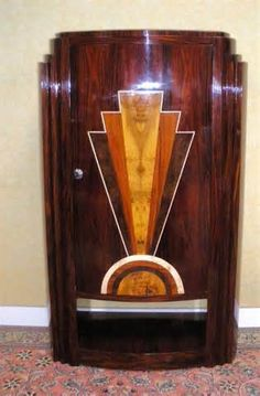 furniture art deco art deco figured walnut wardrobe vintage