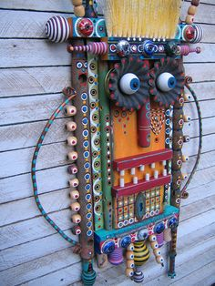 This is yummy~~~ Home At Last - Found Object Assemblage by Fig Jam Studio. $369.00, via Etsy.