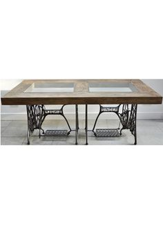 STITCHED UP £1,895  Ines Coles' divine dining table is upcycled from Singer sewing machines    liberty.co.uk