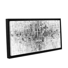 ArtWall Susanna Shaposhnikova's Black And White, Gallery Wrapped Floater-framed Canvas