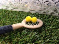 Stitched felt racquet, getting into the #ausopen spirit