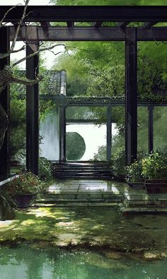 The Effective Pictures We Offer You About Architecture background laptop A quality picture can tell. Chinese Garden, Chinese Art, Chinese Courtyard, Chinese Painting, Fantasy Landscape, Landscape Architecture, Architecture Background, Japanese Architecture, Japan Garden