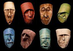 Toilet Paper Roll Sculptural Heads