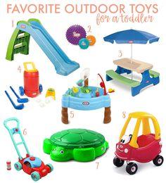 Favorite Outdoor Toddler Toys