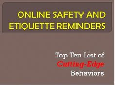 Secondary level teachers! A PowerPoint with quick reminders for your students on online etiquette.