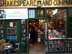 The shopfront of the Shakespeare and Co Bookshop.