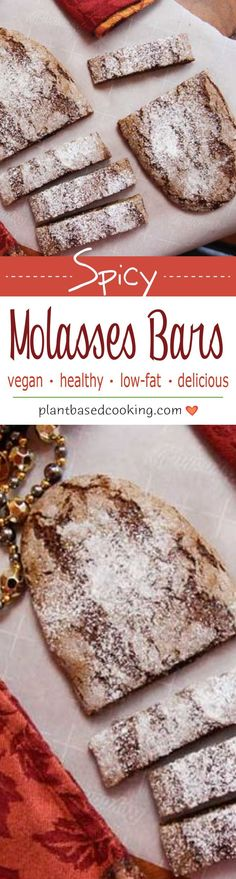 Spicy Molasses Bars – These molasses bars taste just as good as the original without any fat and are quick to prepare. Only 20 minutes of cook time. Source by plantbasedcooking Brownie Desserts, Oreo Dessert, Mini Desserts, Coconut Dessert, Healthy Vegan Desserts, Vegan Dessert Recipes, Delicious Vegan Recipes, Whole Food Recipes, Breakfast Recipes