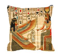 Egyptian Theme Pillows by redbeauty on Etsy, $40.00